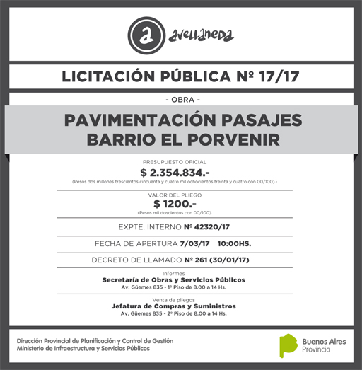 LICITACION PUBLICA Nº 017-17 9,8x10cm