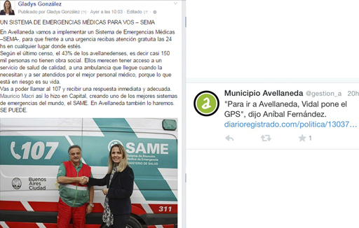 FB GladysGonzalez-TW MunicipalidadAvellaneda