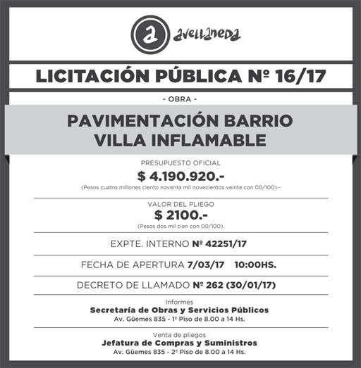 LICITACION PUBLICA Nº 16-17 9,8x10cm