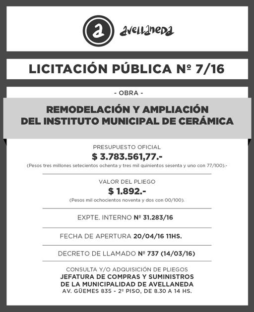 LICITACION PUBLICA Nº 007-16 (1)