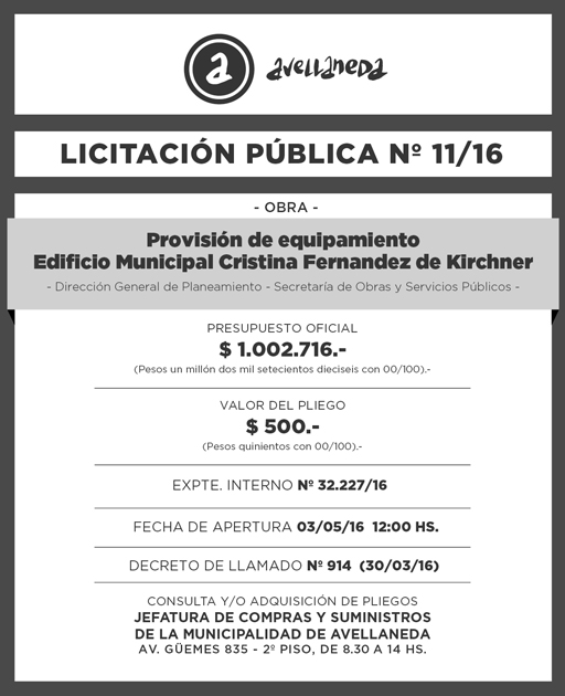 LICITACION PUBLICA Nº 011-16-01
