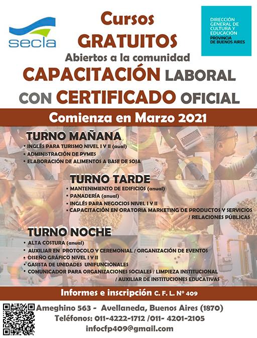 Inscriben Para Cursos Gratuitos De Capacitacion Laboral La Ciudad Avellaneda